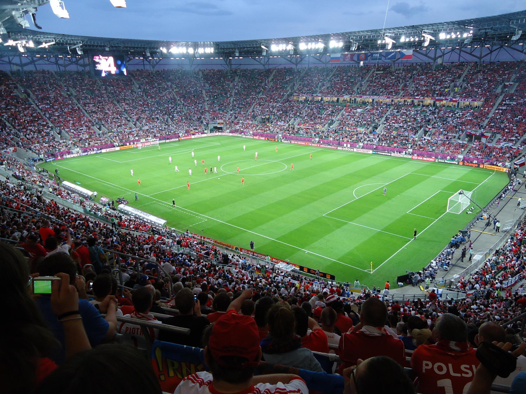 Городской стадион Евро-2012 матч России с командой Чехии